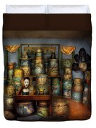 Collector - Hats - The Hat Room Duvet Cover by Mike Savad