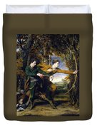 Colonel Acland And Lord Sydney - The Archers Duvet Cover