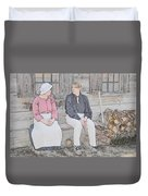 Colonials At Rest Duvet Cover