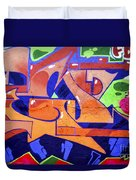 Colorful Abstract Street Art  Duvet Cover