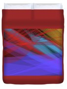 Colorful Abstract Vector Background Banner, Transparent Wave Lin Duvet Cover