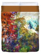 Colorful Autumn Trees In Forest Duvet Cover