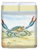 Colorful Blue Crab Duvet Cover