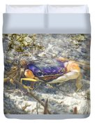 Colorful Crabstract 2 Duvet Cover