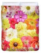 Colorful Floral Background Duvet Cover