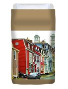 Colorful Houses In St. Johns In Newfoundland Duvet Cover