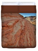 Colorful Sandstone Wave In Valley Of Fire Duvet Cover