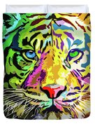 Colorful Tiger Duvet Cover