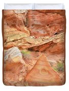 Colorful Wash 3 In Valley Of Fire Duvet Cover