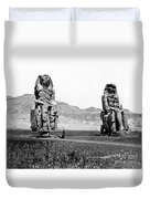 Colossi Of Memnon, Valley Of The Kings Duvet Cover