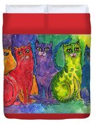 Colourful Cats Duvet Cover