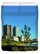Columbus Ohio Panorama Duvet Cover