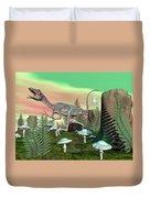 Compsognathus Dinosaur - 3d Render Duvet Cover