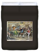 Congressional Pugilists Duvet Cover
