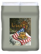Contemplating Liberty Duvet Cover