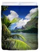 Cooks Bay With Sailboat Duvet Cover