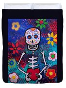 Corazon Day Of The Dead Duvet Cover