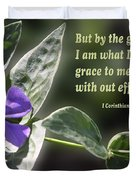 1 Corinthians 15 Vs 10 Lavender Blossom Duvet Cover
