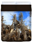 Corn Stalks Drying In The Sun Duvet Cover