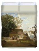 Cottage Scenery Duvet Cover