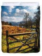 Countryside Gate Duvet Cover