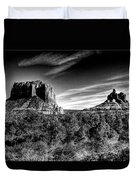 Courthouse Butte And Bell Rock Sedona Arizona Duvet Cover