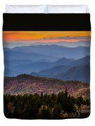 Cowee Overlook. Duvet Cover