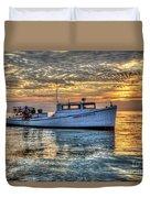 Crabbing Boat Donna Danielle - Smith Island, Maryland Duvet Cover