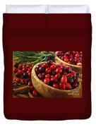 Cranberries In Bowls Duvet Cover