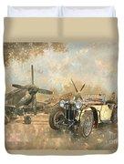 Cream Cracker Mg 4 Spitfires  Duvet Cover by Peter Miller