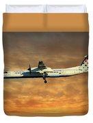 Croatia Airlines Bombardier Dash 8 Q400 Duvet Cover