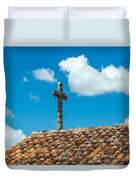 Cross And Tiled Roof Duvet Cover