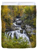 Cullasaja Falls In Autumn Duvet Cover