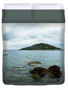 Cunski Beach And Coastline, Losinj Island, Croatia Duvet Cover