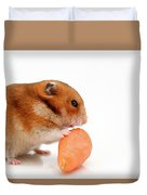 Curious Hamster 1 Duvet Cover