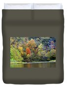 Current River Fall Duvet Cover