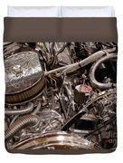Custom Car Chromed Engine Duvet Cover