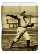 Cy Young With The Boston Americans 1908 Duvet Cover