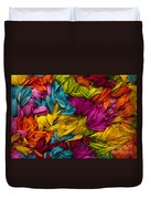 Daisy Petals Abstracts Duvet Cover
