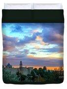 David Tower At Sunset  Duvet Cover