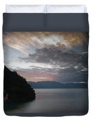 Dawn At Casa De Mundo Lake Atitlan 1 Duvet Cover