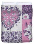 Deco Heart Pink Duvet Cover