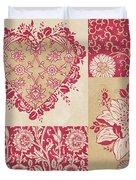 Deco Heart Red Duvet Cover