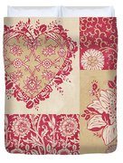 Deco Heart Red Duvet Cover by JQ Licensing