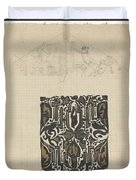 Decorative Design And Sketch Of The Front Tympanum Of The Royal Palace In Amsterdam, Carel Adolph Li Duvet Cover