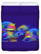 Deep Blue Marine Life Duvet Cover