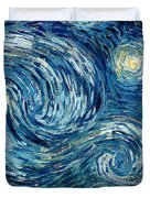 Detail Of The Starry Night Duvet Cover