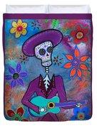 Dia De Los Muertos Mariachi Duvet Cover