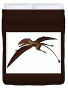 Dimorphodon On White Duvet Cover