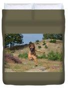 Dog Leaping Duvet Cover